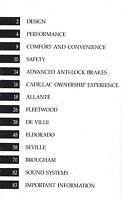 BIG 1990 CADILLAC Brochure:ALLANTE,De VILLE,ELDORADO BIARRITZ,SEVILLE,FLEETWOOD,
