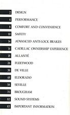 Big 1990 Cadillac Brochure:Allante,De Ville,Eldorado Biarritz,Seville,Fleetwoo d,