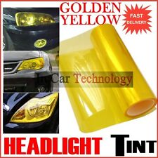 400mm x 1000mm YELLOW TINT FILM CAR VAN VEHICLE HEADLAMP FOG TAIL LIGHT WRAP
