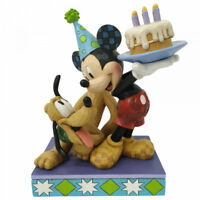 Disney Traditions Pluto & Mickey Mouse Birthday Cake Figurine 6007058 New Boxed