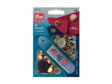 Bottoni a pressioni automatici Prym Anorak color oro dal diametro di 15 mm