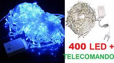 400 LED Natalizi.Luce blu intenso,filo trasparente.Albero Natale,luci Christmas