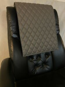 GRAY quilted recliner sofa chair love seat headrest arm rest leather damage pad