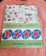 Vinyl shower curtain Bed Bath and Beyond All Star Sports Oxford 70 x 72 New