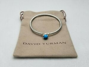 DAVID YURMAN Women's Chatelaine Bracelet with Turquoise 3mm sz Small