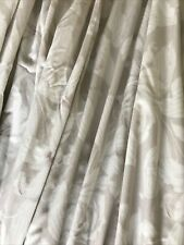 "LAURA ASHLEY BEIGE FLORAL CURTAINS 70"" Wide X 62"" Drop"