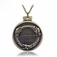 THE ELDER SCROLLS - Ouroboros Pendant Necklace TES Skyrim Bronze - Gift Collier