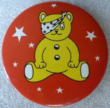 Late 1990s PUDSEY Bear BBC Children In Need CHARITY Button BADGE TV Television