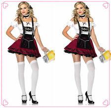 OKTOBERFEST German Beer Girl Wench Maid Halloween Fancy Dress COSTUME M