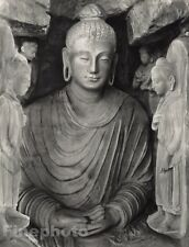 1928 Original INDIA Taxila Buddha Statue Religion Sculpture Photo Art HURLIMANN