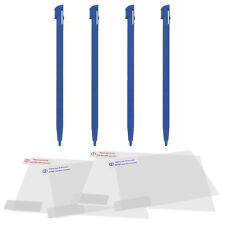 Stylus & screen protector kit for 2DS Nintendo touch pen set - blue | ZedLabz