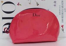 Christian Dior Beauty Patent Leather Cosmetics Makeup Bag Pouch CD Pink Pouch