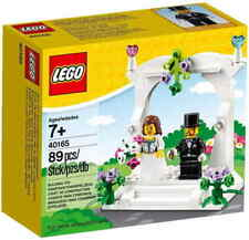 LEGO SET 40165 BRIDE AND GROOM WEDDING CAKE TOPPER - RETIRED SET Free Shipping