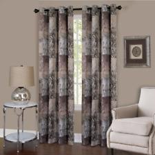 "Achim Home Furnishings Vogue Grommet Window Curtain Panel, 50"" x 84"", Brown"