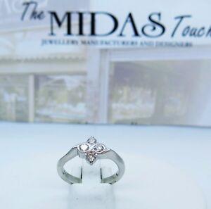PLATINUM diamonds  cluster ring ,