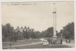 Surrey postcard - Weybridge - Monument Green - LL No. 649 - P/U 1907 (A48)