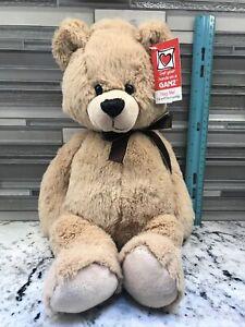 "Ganz Casey Bear Brown Plush 15"" H12191 EUC  B34"