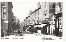 Yorkshire Postcard - Old York - Fossgate c1886 - Pamlin Print - Ref A4813