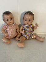 "PAIR 1930s Composition Madame Alexander DIONNE QUINT 11"" Baby Dolls"