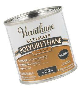 Rust-Oleum Varathane 9061H 1/2-Pint Interior Oil Polyurethane, Gloss Finish