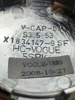 Vogue Tyres V-CAP-03 X1834147-9SF Chrome Wheel Rim Snap In Center Cap