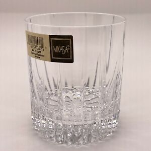 Mikasa Arctic Lights Double Old Fashioned Glass w/ Sticker - DISCONTINUED NOS