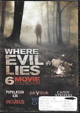 Where Evil Lies Horror 6-Pack (2-Disc DVD Set) NEW SEALED Incubus-devour-cottage