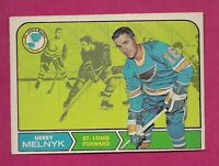 1968-69 OPC # 120 BLUES GERRY MELNYK EX-MT CARD (INV# 8142)