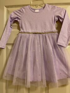 Hanna Andersson Lavender Light Purple Dress Girls Size 110  5
