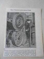 Banc d'épreuve pour pneux d'auto Image Print 1926