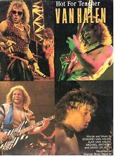 """VAN HALEN """"HOT FOR TEACHER"""" SHEET MUSIC-PIANO/VOCAL/GUITAR/CHORDS-1984-RARE-NEW!"""