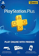 PlayStation Plus 1 Year 12 Month 365 Day PSN Membership Code PS3 PS4 PS Vita USA