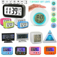 Mini Digital Backlight Led Display Table Alarm Clock Snooze Calendar Thermometer