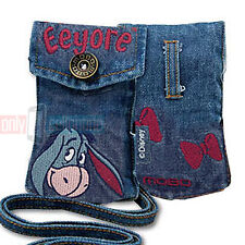 Disney EEYORE Universal Jean Pouch Case for Flip Phones iPhone 5S/SE MP3 iPod