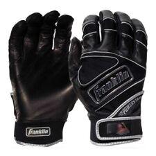 Franklin Powerstrap Chrome Batting Gloves - Black - M