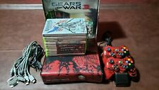 Xbox 360 S Gears of War 3 Limited Edition 320GB Red & Black Console Bundle READ!