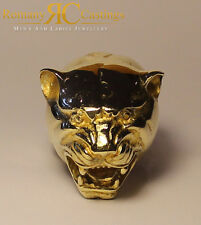 Men's Polished Panther Ring Cast in 9ct Solid Gold 45 gram approx Fully Stamped