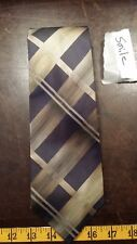 John Ashford Yellow Gray Stripe Silk Mens Designer Tie Necktie Free Shipping