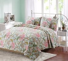 Riemer Floral 100% Cotton Reversible Quilt Set, Bedspread, Coverlet