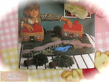 Vintage Knitting Pattern; Knit Your Own Village!! Cottages, Trees, Grass, etc.!!