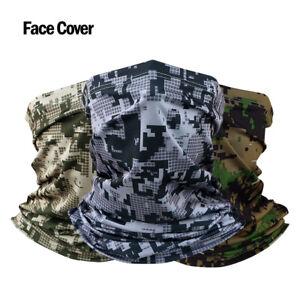 Camo Neck Gaiter Balaclava Bandana Headwear Cooling Face Mask Scarf for Outdoor,