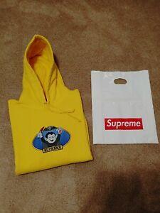Supreme Vampire Boy Yellow Hoodie S/S21. New. Size L