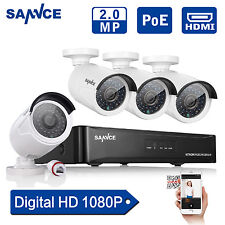 SANNCE 4CH 1080P NVR PoE IP Network CCTV Surveillance Security Camera System KIT