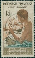 French Polynesia 1958 Sc#C24,SG13 13f Mother of Pearl Engraver FU