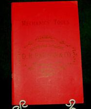 1873 Mechanics Tools D.R. Barton & Co Illustrated Catalog Reprint 1983 Inv#HK82
