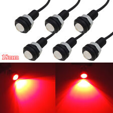 6pcs Bright Red Eagle Eye LED Car Motorcycle Truck Lighting Retrofit Chassis DRL