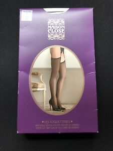 Maison Close Stocking Sheer Cut And Curled 20Den Grey Size 1 Xs