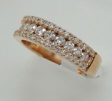 14k ROSE GOLD DIAMOND CHANNEL SET ANNIVERSARY WIDE BAND