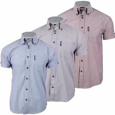 Lambretta Button Down Striped Short Sleeve Men's Casual Shirts & Tops