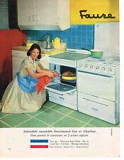 PUBLICITE ADVERTISING 014   1959   FAURE   cuisinière gaz & charbon